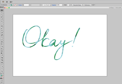Used my blue/green watercolour swatch to recolour my lettering. Yay, done!